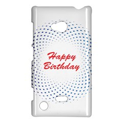 Halftone Circle With Squares Nokia Lumia 720 Hardshell Case