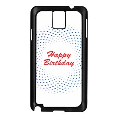 Halftone Circle With Squares Samsung Galaxy Note 3 N9005 Case (Black)