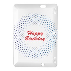 Halftone Circle With Squares Kindle Fire HDX 8.9  Hardshell Case