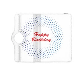 Halftone Circle With Squares Kindle Fire HDX 8.9  Flip 360 Case