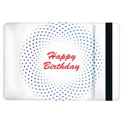 Halftone Circle With Squares Apple iPad Air Flip Case