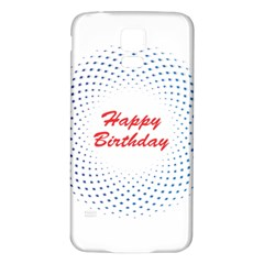 Halftone Circle With Squares Samsung Galaxy S5 Back Case (White)