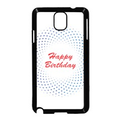 Halftone Circle With Squares Samsung Galaxy Note 3 Neo Hardshell Case (Black)