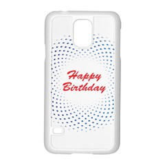 Halftone Circle With Squares Samsung Galaxy S5 Case (White)
