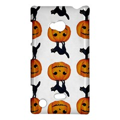 Vintage Halloween Cat Nokia Lumia 720 Hardshell Case