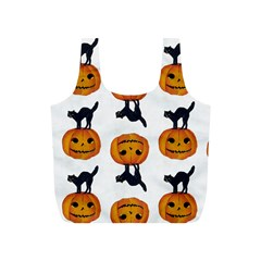 Vintage Halloween Cat Reusable Bag (S)