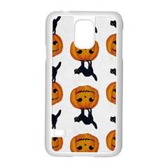Vintage Halloween Cat Samsung Galaxy S5 Case (White)
