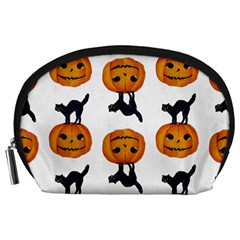 Vintage Halloween Cat Accessory Pouch (Large)
