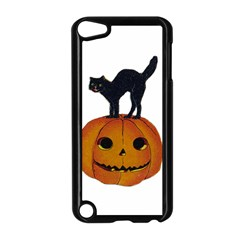 Vintage Halloween Cat Apple iPod Touch 5 Case (Black)