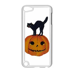 Vintage Halloween Cat Apple iPod Touch 5 Case (White)