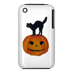 Vintage Halloween Cat Apple iPhone 3G/3GS Hardshell Case (PC+Silicone)