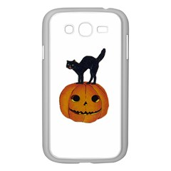Vintage Halloween Cat Samsung Galaxy Grand DUOS I9082 Case (White)