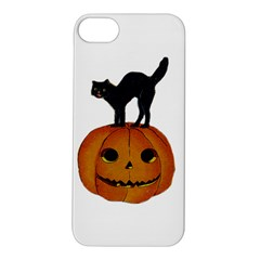 Vintage Halloween Cat Apple iPhone 5S Hardshell Case
