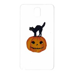 Vintage Halloween Cat Samsung Galaxy Note 3 N9005 Hardshell Back Case