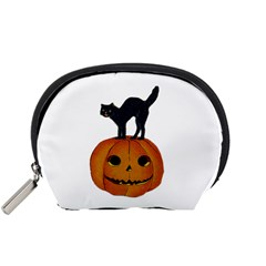 Vintage Halloween Cat Accessory Pouch (Small)