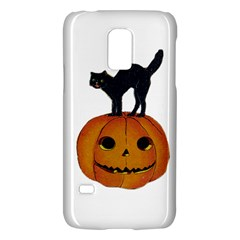 Vintage Halloween Cat Samsung Galaxy S5 Mini Hardshell Case
