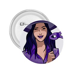 Purple Witch 2 25  Button