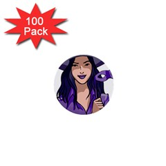 Purple Witch 1  Mini Button (100 Pack)