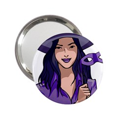 Purple Witch Handbag Mirror (2 25 )
