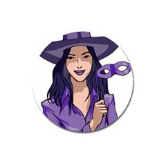 Purple Witch Magnet 3  (Round)