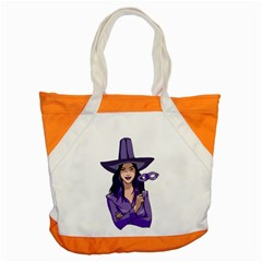 Purple Witch Accent Tote Bag