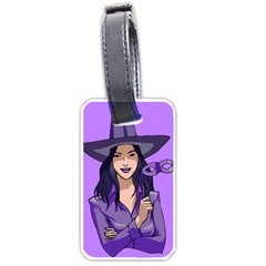 Purple Witch Luggage Tag (two Sides)