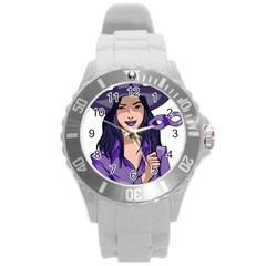 Purple Witch Plastic Sport Watch (Large)