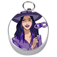Purple Witch Silver Compass