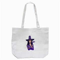 Purple Witch Tote Bag (white)