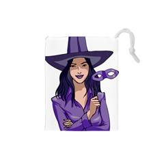 Purple Witch Drawstring Pouch (Small)