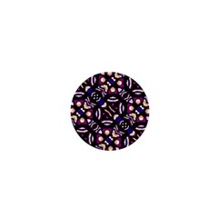 Colorful Tribal Pattern Print 1  Mini Button Magnet