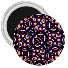 Colorful Tribal Pattern Print 3  Button Magnet