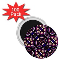 Colorful Tribal Pattern Print 1.75  Button Magnet (100 pack)