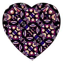 Colorful Tribal Pattern Print Jigsaw Puzzle (Heart)