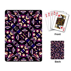 Colorful Tribal Pattern Print Playing Cards Single Design