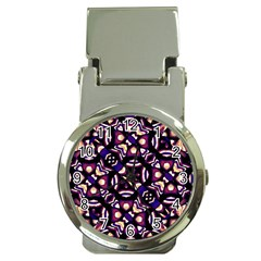 Colorful Tribal Pattern Print Money Clip With Watch
