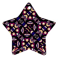 Colorful Tribal Pattern Print Star Ornament (Two Sides)