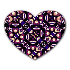 Colorful Tribal Pattern Print Mouse Pad (heart)