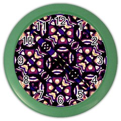 Colorful Tribal Pattern Print Wall Clock (color)