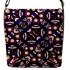 Colorful Tribal Pattern Print Flap Closure Messenger Bag (Small)