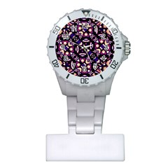 Colorful Tribal Pattern Print Nurses Watch