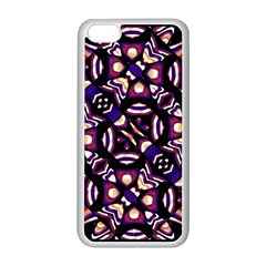 Colorful Tribal Pattern Print Apple Iphone 5c Seamless Case (white)