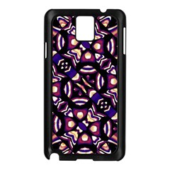 Colorful Tribal Pattern Print Samsung Galaxy Note 3 N9005 Case (Black)