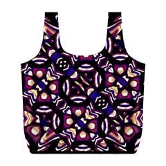 Colorful Tribal Pattern Print Reusable Bag (L)
