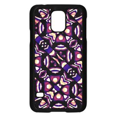 Colorful Tribal Pattern Print Samsung Galaxy S5 Case (Black)