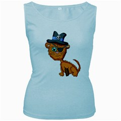 Pirate Cat  Women s Tank Top (Baby Blue)