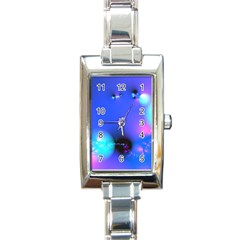 Love In Action, Pink, Purple, Blue Heartbeat 10000x7500 Rectangular Italian Charm Watch
