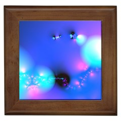 Love In Action, Pink, Purple, Blue Heartbeat 10000x7500 Framed Ceramic Tile