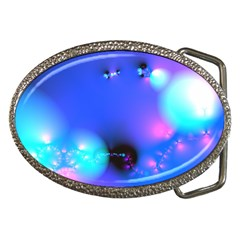 Love In Action, Pink, Purple, Blue Heartbeat 10000x7500 Belt Buckle (oval)