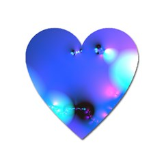 Love In Action, Pink, Purple, Blue Heartbeat 10000x7500 Magnet (Heart)